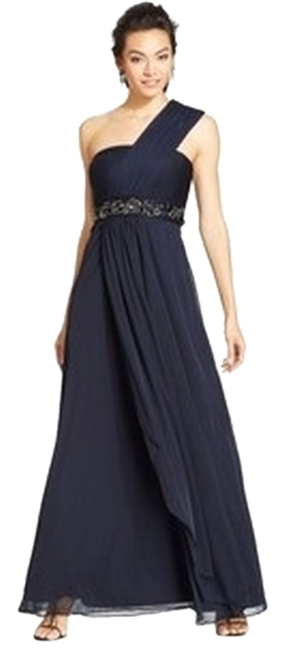 Patra New Womens Navy Embellished Evening Gown Long Formal Dress Size Petite 12 L 83 Off Retail
