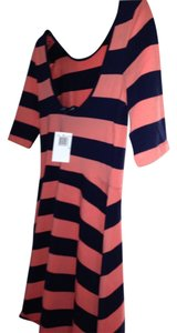 French Connection short dress orange and navy on Tradesy