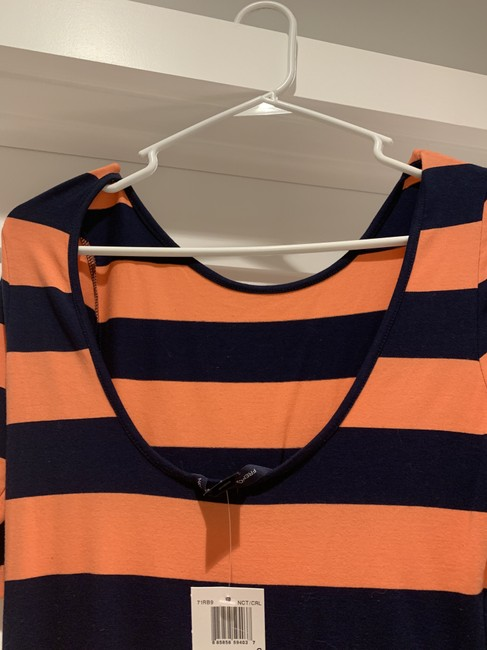 French Connection short dress orange and navy on Tradesy Image 2