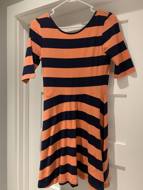 French Connection short dress orange and navy on Tradesy Image 3