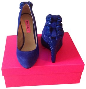 Betsey Johnson Blue Wedges