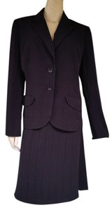 A.B.S. by Allen Schwartz NWT ALLEN by A.B.S. Allen Schwartz Black Red Pinstriped Skirt Suit 14