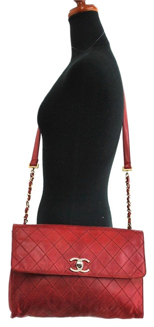 Item - Crossbody Large Quilted Classic Jumbo Flap Red Lambskin Messenger Bag