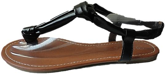 385 Fifth Knotted Sandals Black Flats