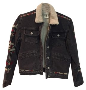 Isabel Marant x H&M Denim, Black, Patterned Womens Jean Jacket