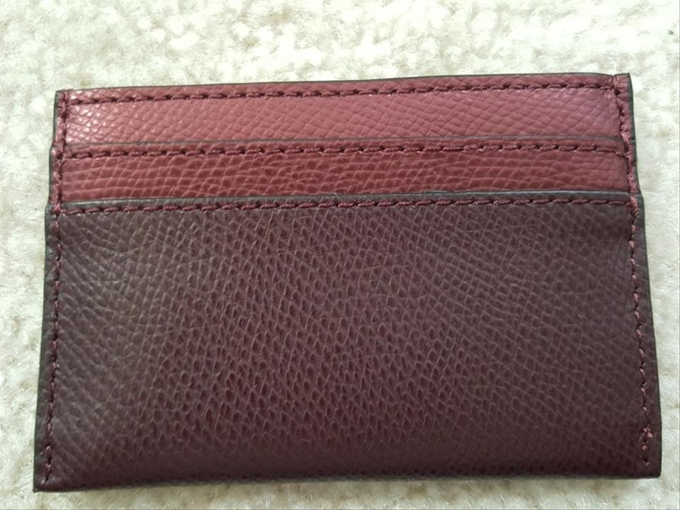 Coach red new leather card case business card holder metallic cherry coach red new leather card case business card holder metallic cherry wallet tradesy colourmoves