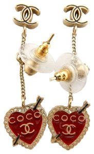 Chanel Chanel Dangling Heart Earrings