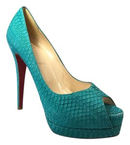 Christian Louboutin Snakeskin Turquoise Pumps