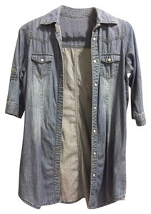 Chinese Laundry Top Denim Blue