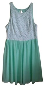 Emerald Sundae short dress mint green,green,white,mint Sleeveless Spring Demure on Tradesy