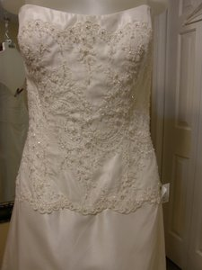 Eden Ivory Taffeta 1602 Wedding Dress Size 10 (M)