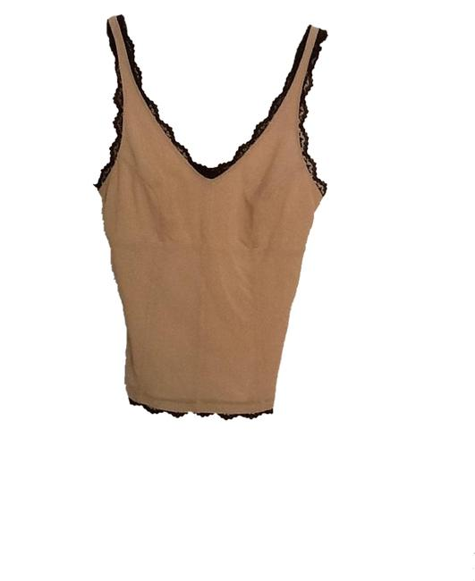 Express Top Beige with black lace