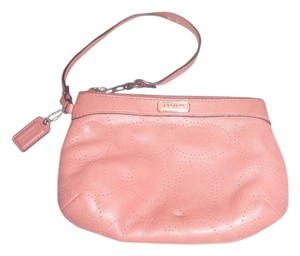 Coach Pouch Wallet Handbag Small Pouch Small Small Wallet Wristlet in peach