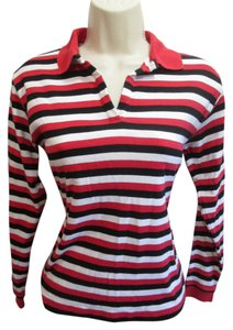 Burberry Top white/red