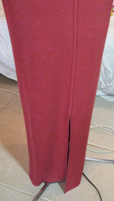 Double D Ranchwear Linen Knit Maxi Skirt Bright Red Image 1
