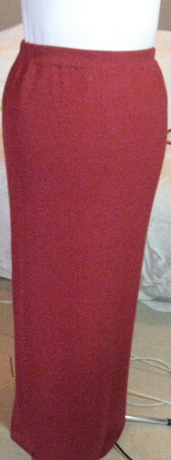 Double D Ranchwear Linen Knit Maxi Skirt Bright Red Image 2