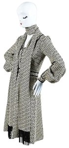 J. Mendel short dress Multi-Color Cream Black Knot Jacquard Ls Shirt With Scarf on Tradesy