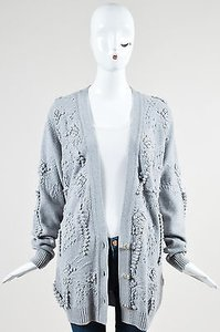 Barrie Pace Barrie Cashmere Crochet Knit Long Sleeve Cardigan Sweater