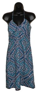 H&M short dress Beige, blue and teal Spaghetti Strap on Tradesy