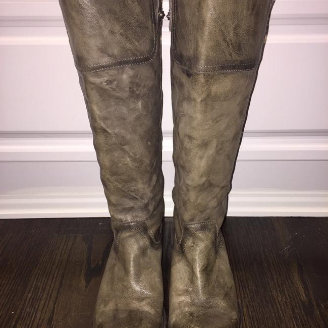 Item - Grey/Brown Carson Riding Button Boots/Booties Size US 8 Regular (M, B)