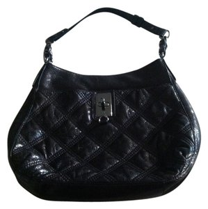MILLY Leather Quilted Hobo Bag