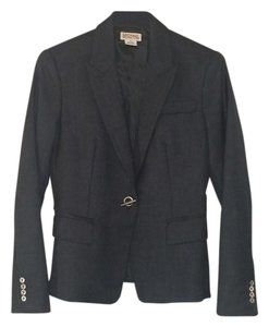 Michael Kors Jacket Long Sleeve Suiting Gray Charcoal Blazer