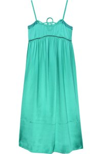 See By Chloe Green Silk Cocktail Strappy Strappy Short Dress