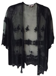 Dailylook Bell Sleeves Net Boho Summer Style black Jacket