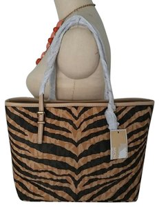 MICHAEL Michael Kors Jet Set Tiger Small Tote in Zebra