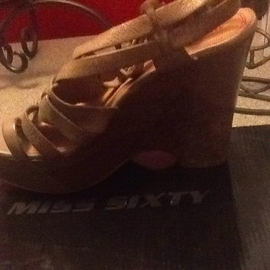 Miss Sixty Taupe Wedges