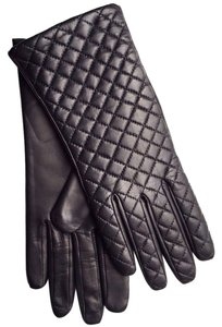 Hilts-Willard Quilted Sheepskin Gloves, Black, L