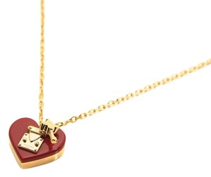 Louis Vuitton NEW Louis Vuitton Red Lock Me Heart Pendant