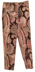 Anne Klein Trouser Pants Brown, red, white