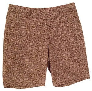 Sigrid Olsen Bermuda Shorts Brown and white