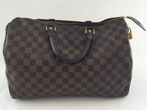 Louis Vuitton Speedy 35 Satchel in Damier Ebene