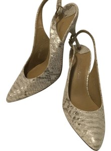 Donald J. Pliner Embossed All Leather Multi color Pumps