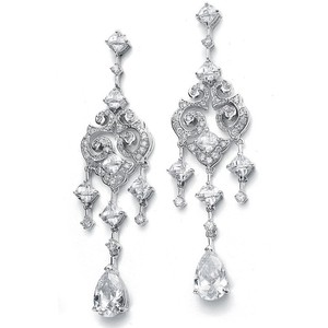 Fab Crystal Chandeliers Statement Bridal Earrings