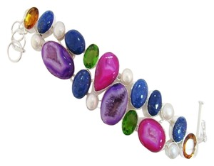 Other Genuine Druzy, Lapis & Quartz Bracelet, Free Shipping