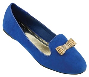Red Circle Footwear Blue Flats