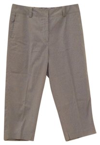 TEHAMA Capris Chambray and white