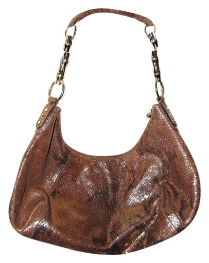 Banana Republic Snakeskin Leather Hobo Bag