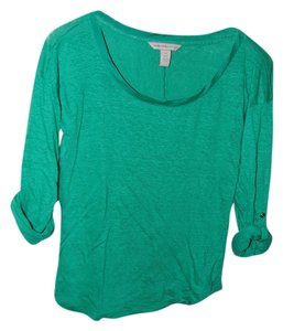 Banana Republic Heritage Linen T Shirt Emerald Green