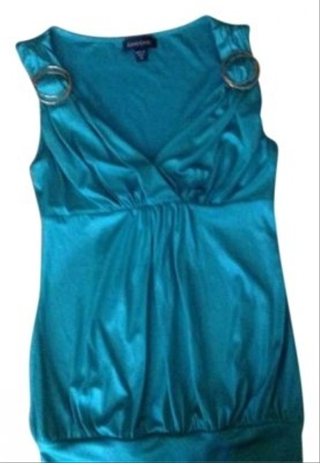 bebe Great with Jeans. Emerald Green Top bebe Great with Jeans. Emerald Green Top Image 1