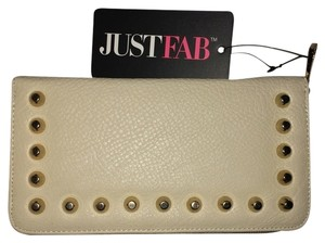 JustFab JustFab Ivory Wallet with gold studs