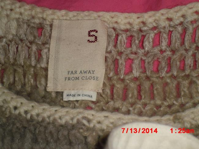 Anthropologie Tan Sleeveless Cotton Wool Alpaca Imported Sweater