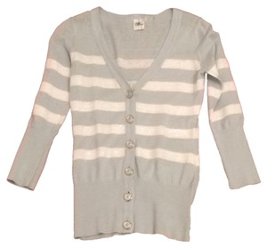 meringue Striped Nelle Sequined Cardigan