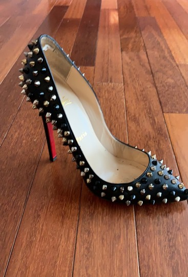 Christian Louboutin Black with gold, black and silver studs Pumps Image 7