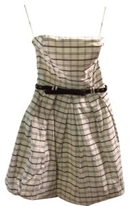 Zara Party Wedding Guest Plaid Bubble Dress