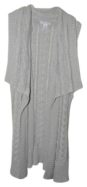 Banana Republic Sleeveless Shawl Cable Knit Petite Cardigan