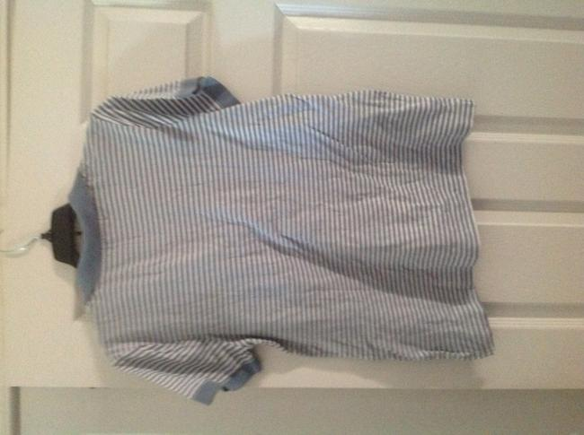 Banana Republic Polo Type T Shirt Light blue and cream